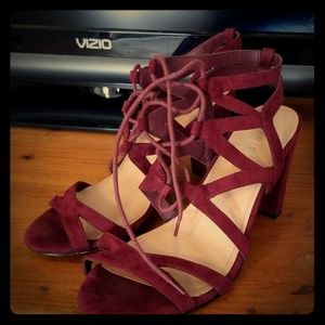 Torrid lace up heels. Wide fit